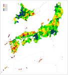 Fertility rates in Japan by region2003-2007