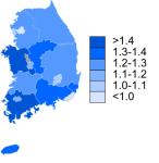 South Korea fertility rates,2009