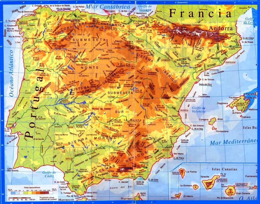 spain mountain map | JayMan's Blog
