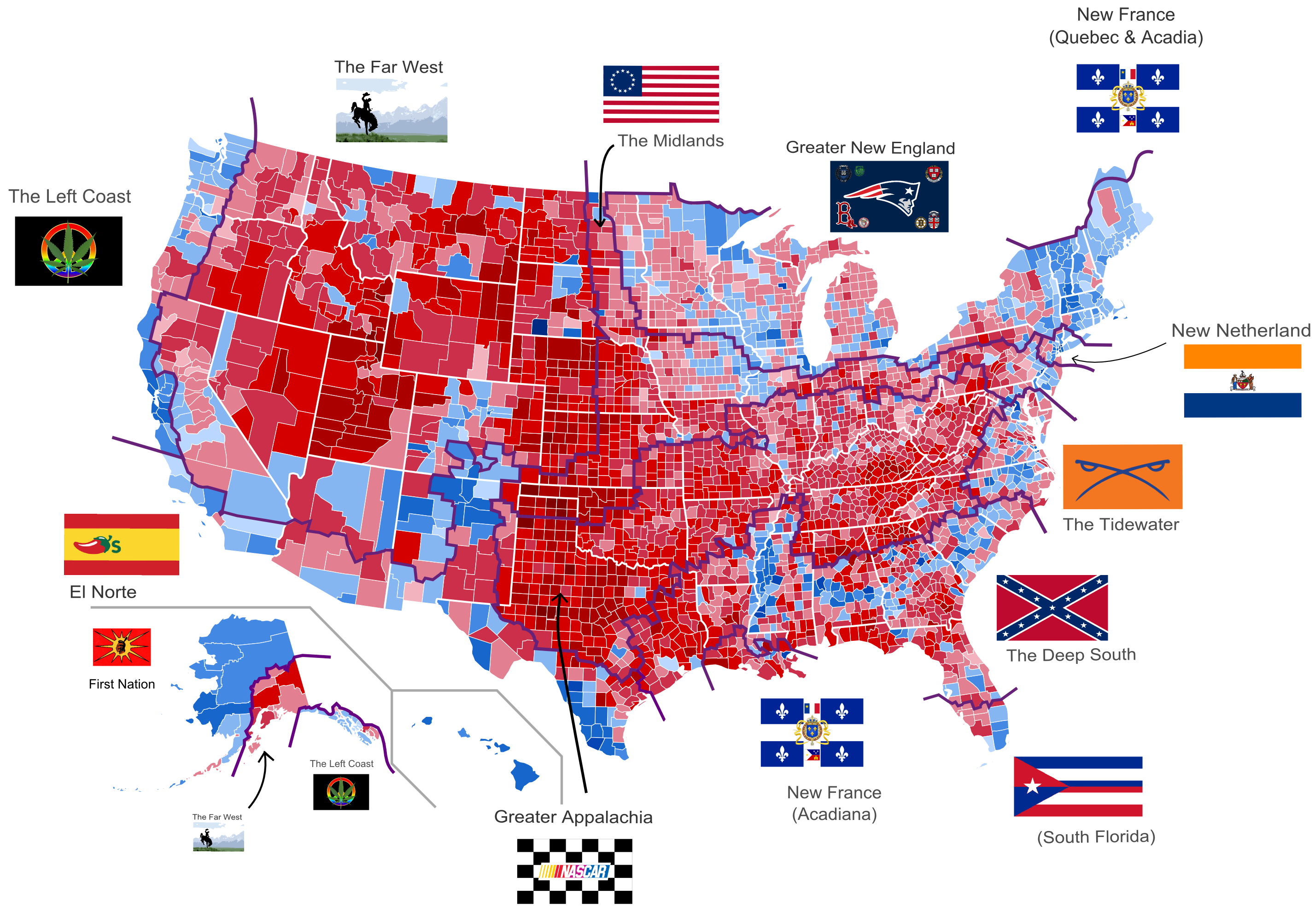 Maps Of The American Nations JayMans Blog - Us party map