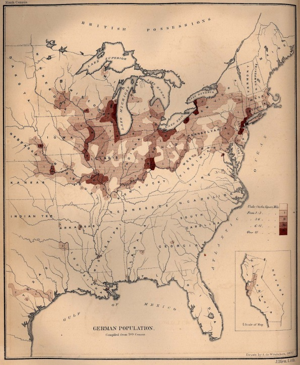 Map German 1870 US
