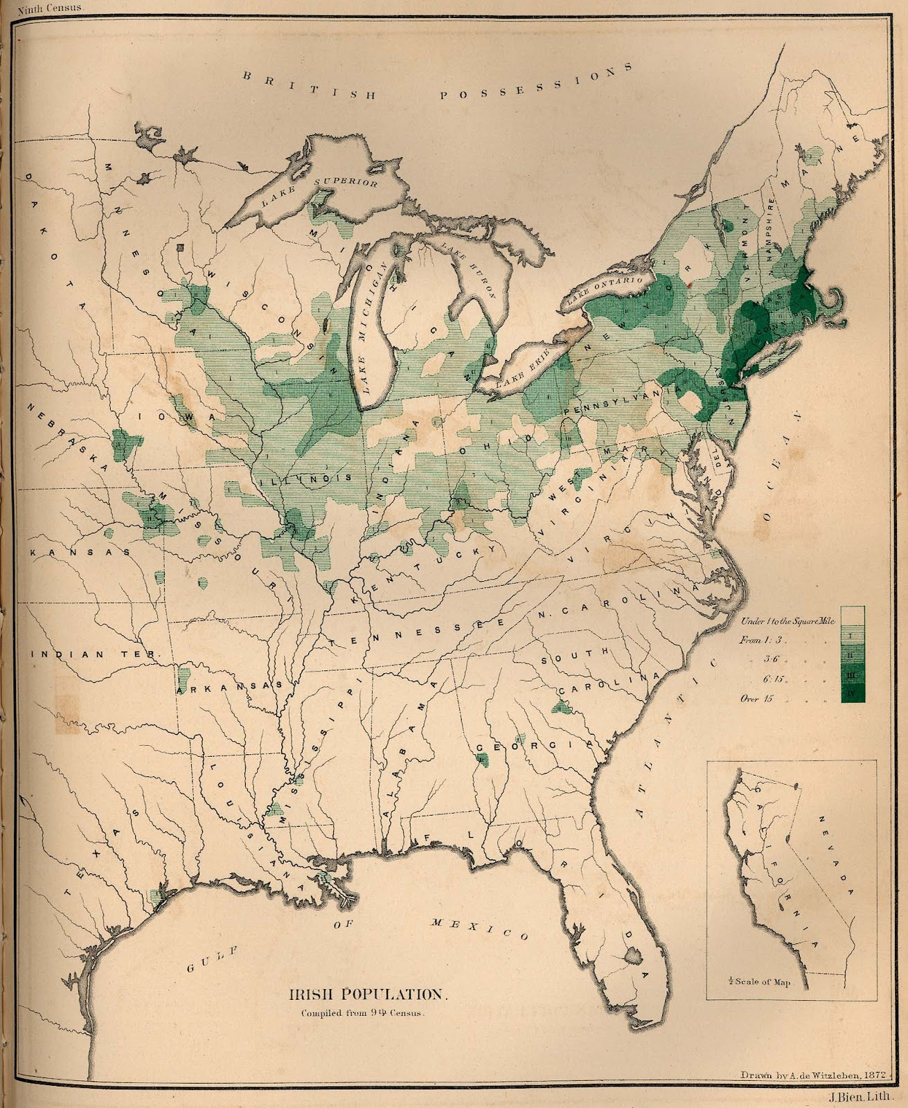 Map Irish 1870 Us Jayman S Blog