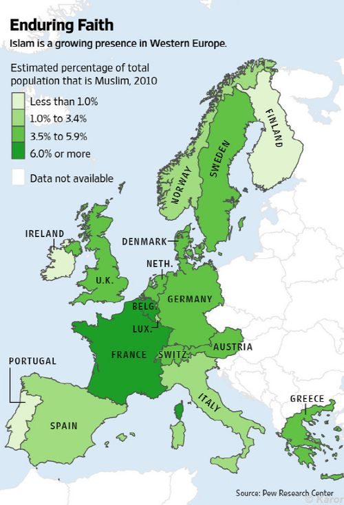 Green Map of Europe