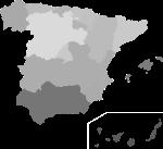 Average PISA scores in Spain - the darker, the lower
