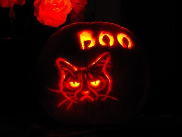 Grumpy Cat Jack O Latern