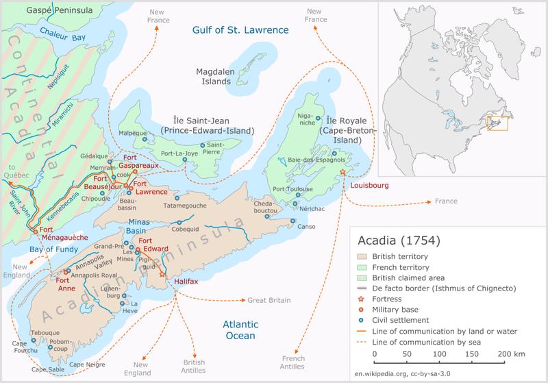 1754 in Canada