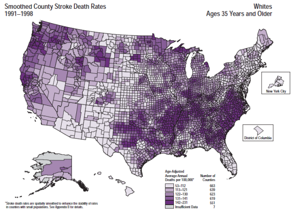 Stoke Death Rates, Whites