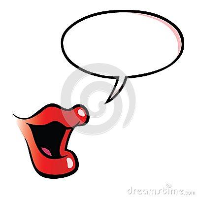 bouche-femelle-de-bande-dessinée-avec-la-bulle-de-la-parole-28426486