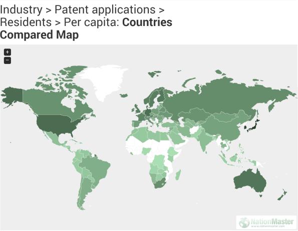 Patent per capita