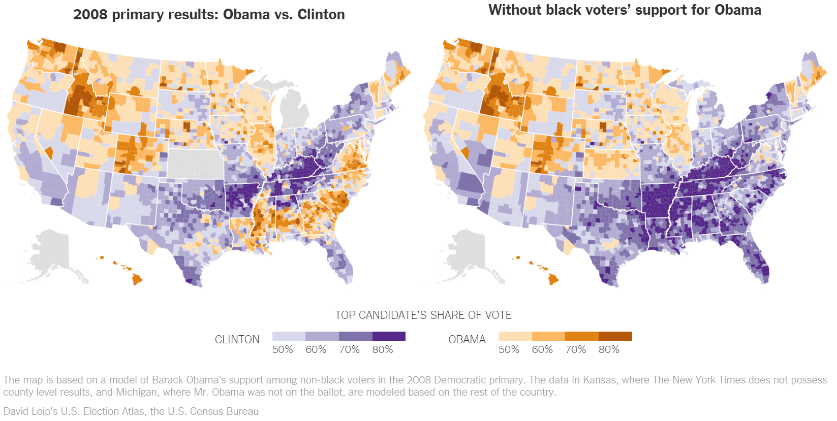 Bernie Is Strongest In The Same Areas Obama Was With The Exception That He Is Not Carrying The Black Vote